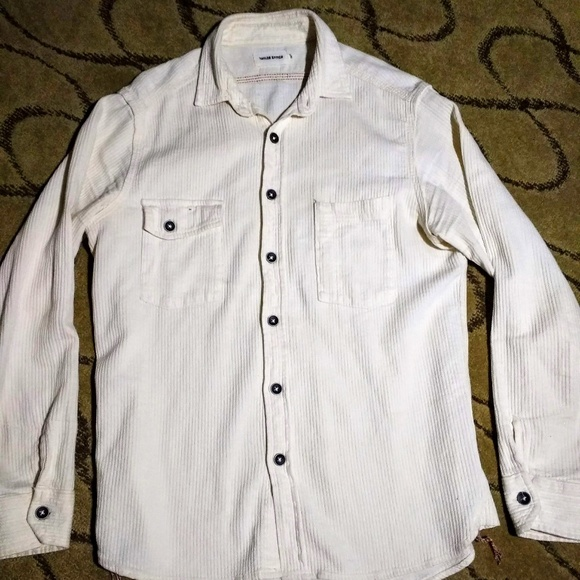 98cc856e708 Utility Shirt in Cone Mills Corded Natural